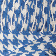 Home Collection Soft and Luxurious Cashmere Wool Houndstooth Throw 50 x 60 in (Blue)