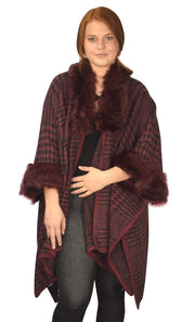 B9033-Houndstooth-Poncho-Red-OS