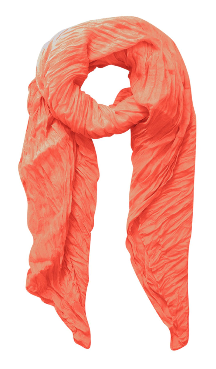 A3029-Vibrant-Crinkled-Scarf-Coral-KL