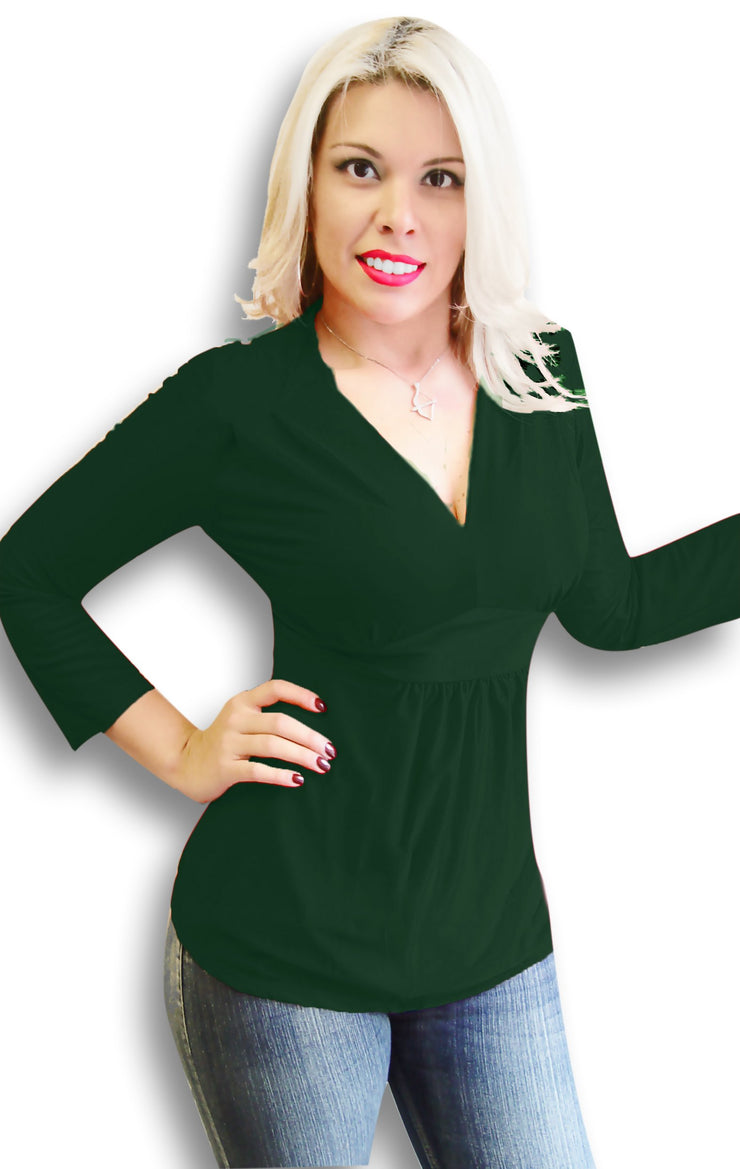 5509-Empire-Waist-Top-Green-Xlarge-SPI