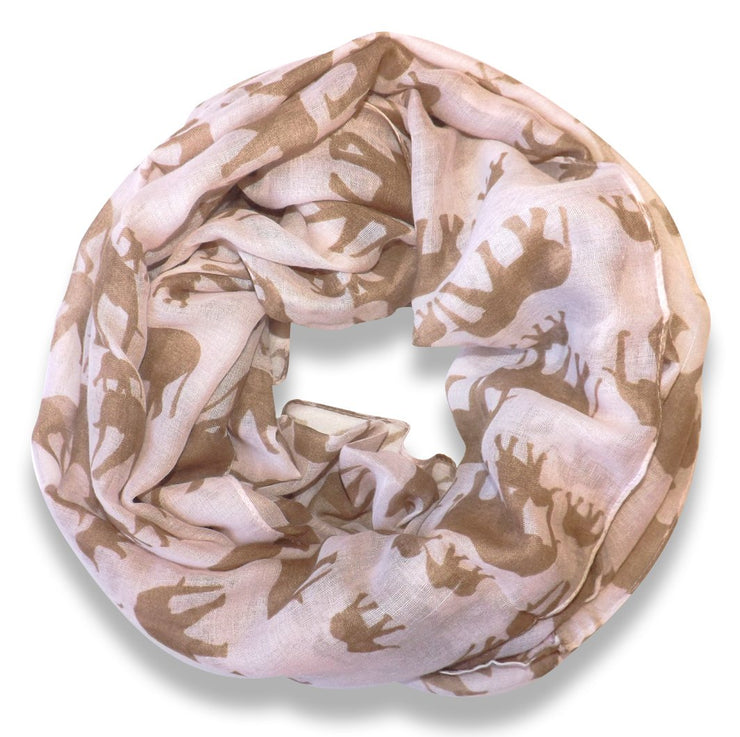 Peach Couture Trendy Lightweight Animal Print Artsy Elephant Wrap Scarf Shawl