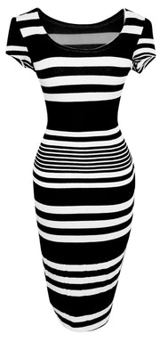 A1580-Striped-BodyconDress-Black-Med-JG