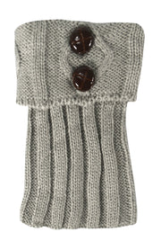 Cozy Soft Adjustable Knitted Winter Leg Warmers with Cute Buttons