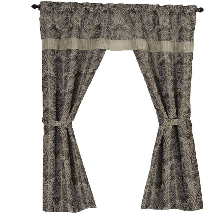 "Peach Couture Window Treatment Blackout Curtains Window Set w/Attached Valance (55"" x 63"", Natural)"