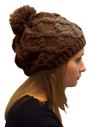 A3240-Cable-Knit-Pom-Hat-Brown-KL