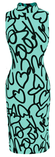 A1599-Script-BodyconDress-Mint-Larg-JG