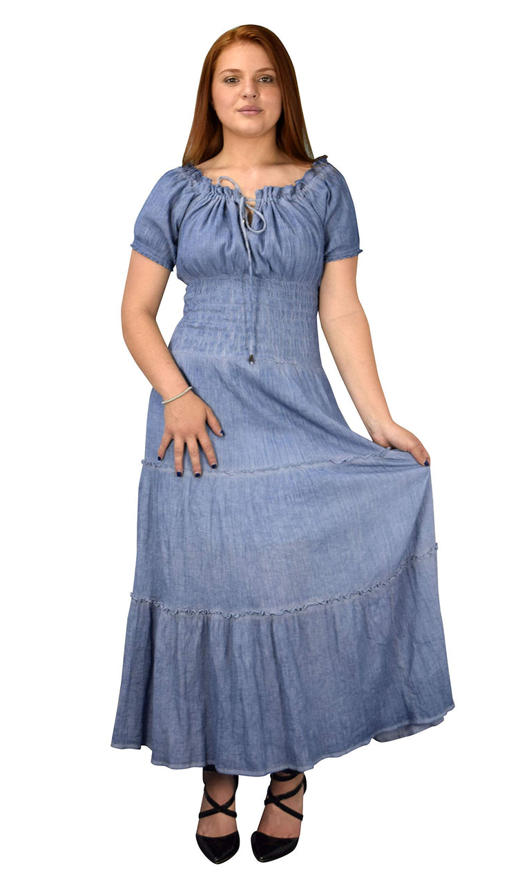 A8037-Denim-Smocked-Dress-Blue-M-JG