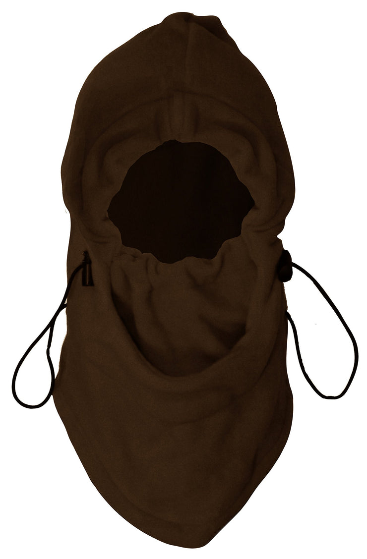 Thick Knit One Hole Facemask Balaclava Snowboarding Biker Mask (Full Face Brown)