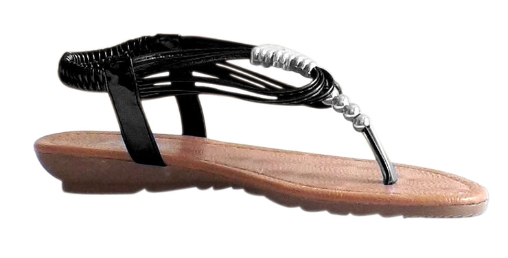 Peach Couture Mila Exotic Getaway Beaded Sandal