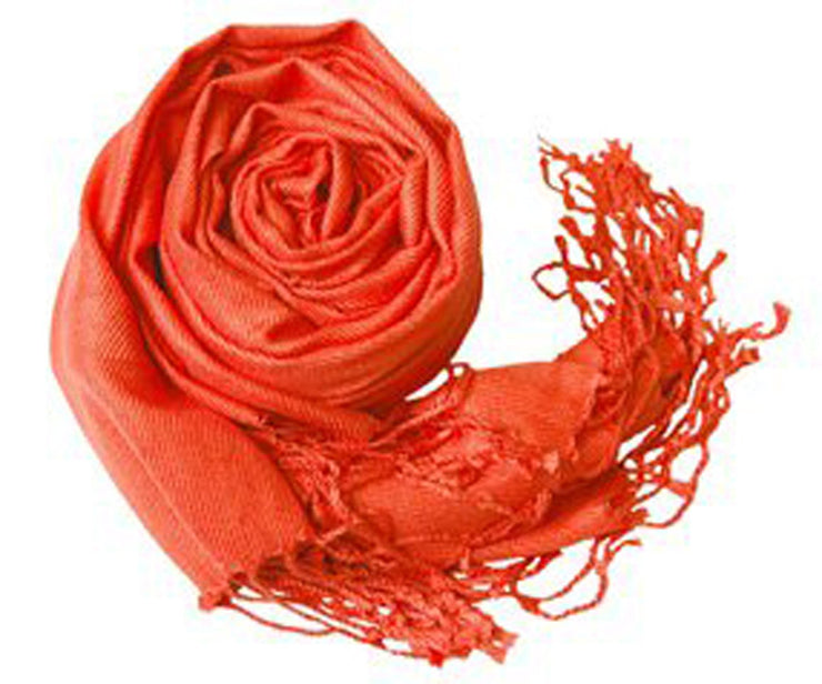 Orange Pashmina Stole/Wrap