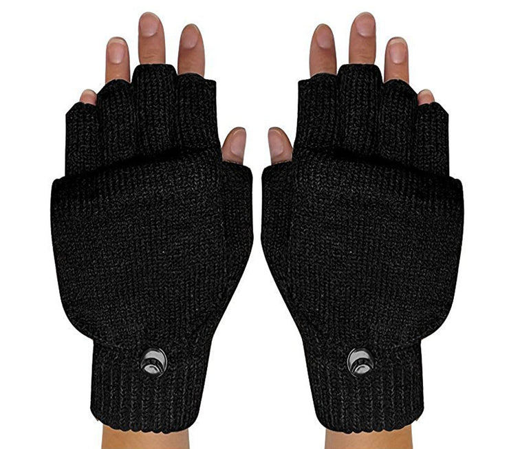 Warm Insulating Convertible Gloves Mittens For Easy Smartphone Texting