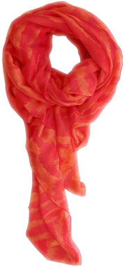 A1507-Electric-Zebra-Scarf-Coral-Red-SM