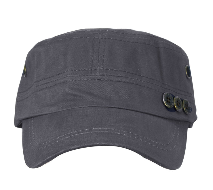 Flat Top Twill Corps Adjustable Military Cadet Hats