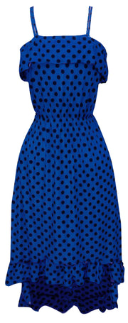 A1301-PolkDot-Maxi-Dress-Blu-BLK-XXL-SM