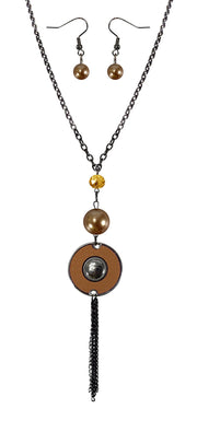 B0514-Long-Chain-Circle-Necklace-Tan-OS