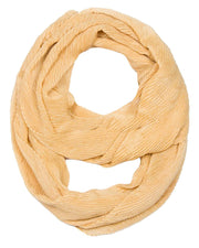 Lightweight Sheer Shimmering Crinkled Pattern Infinity Loop Scarf
