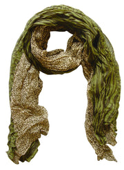 A1153-Animal-Crink-Scarf-Green