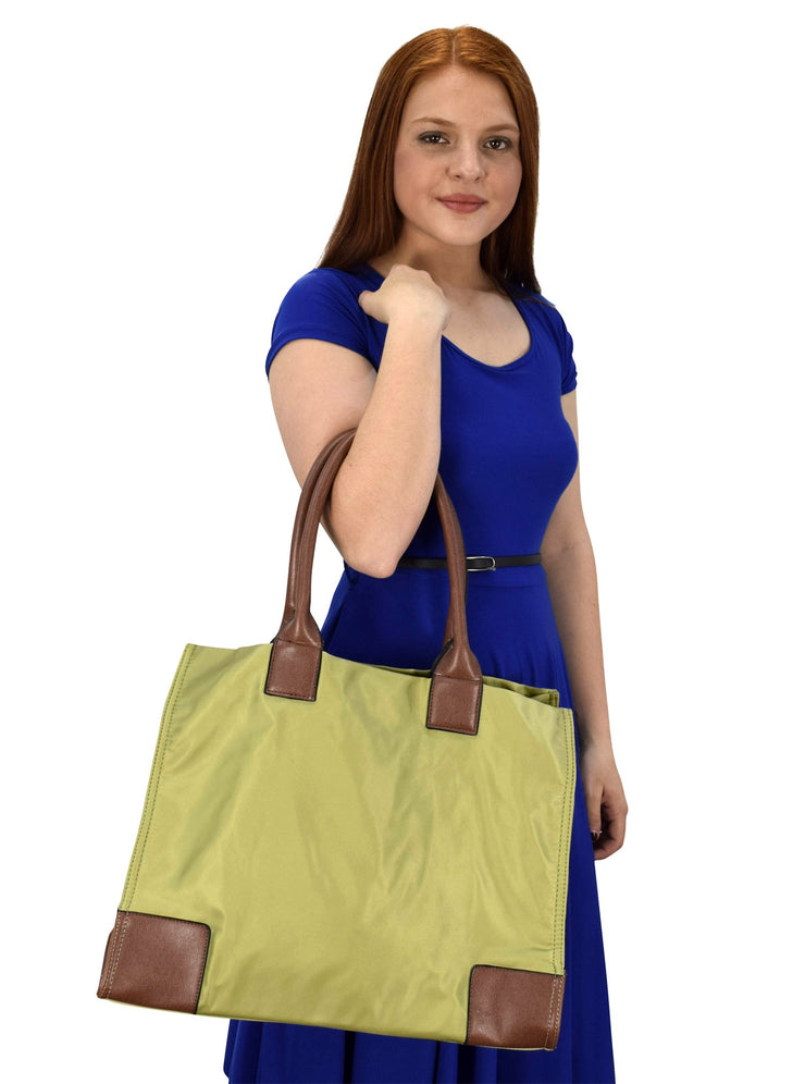 Luxury Nylon Waterproof Solid Shoulder Tote Bag Purse