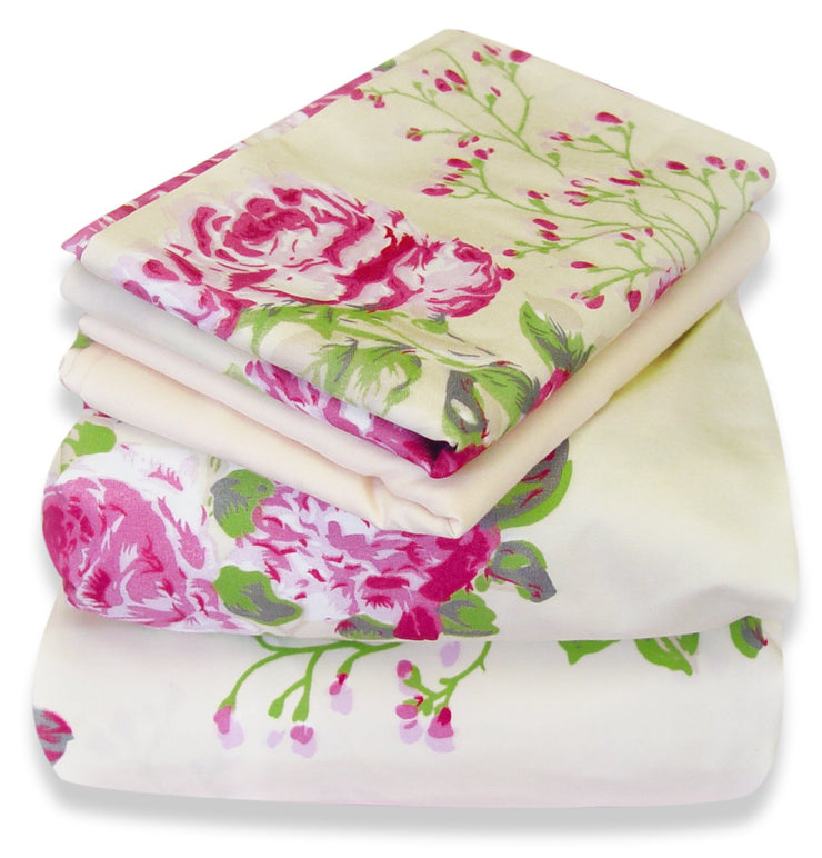 A2077-Floral-Bed-Sheets-Set-Twin-Cream