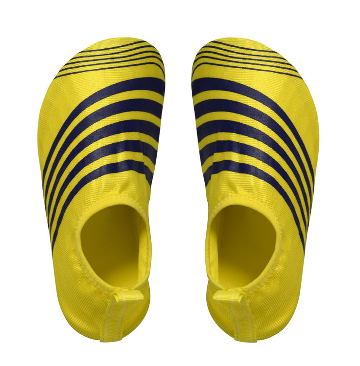 Kids Toddler Boys Athletic Water Shoes Pool Beach Aqua Socks (Large, Yellow Navy)