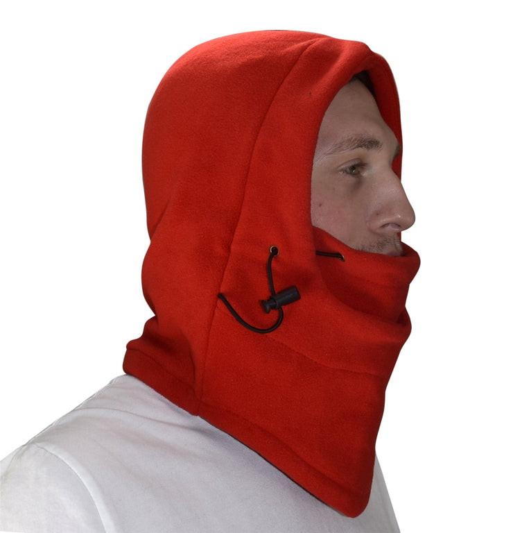 Thick Knit One Hole Facemask Balaclava Snowboarding Biker Mask (Red)
