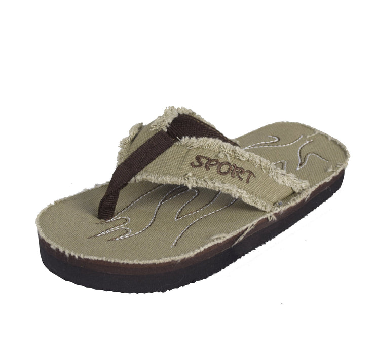 Little Kids Distressed Style Summer Flip Flop Slipper