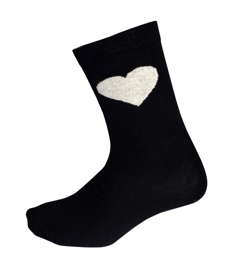 Soft and Cozy Comfortable Soft Cute Hearts Print 5 Pack Crew Socks