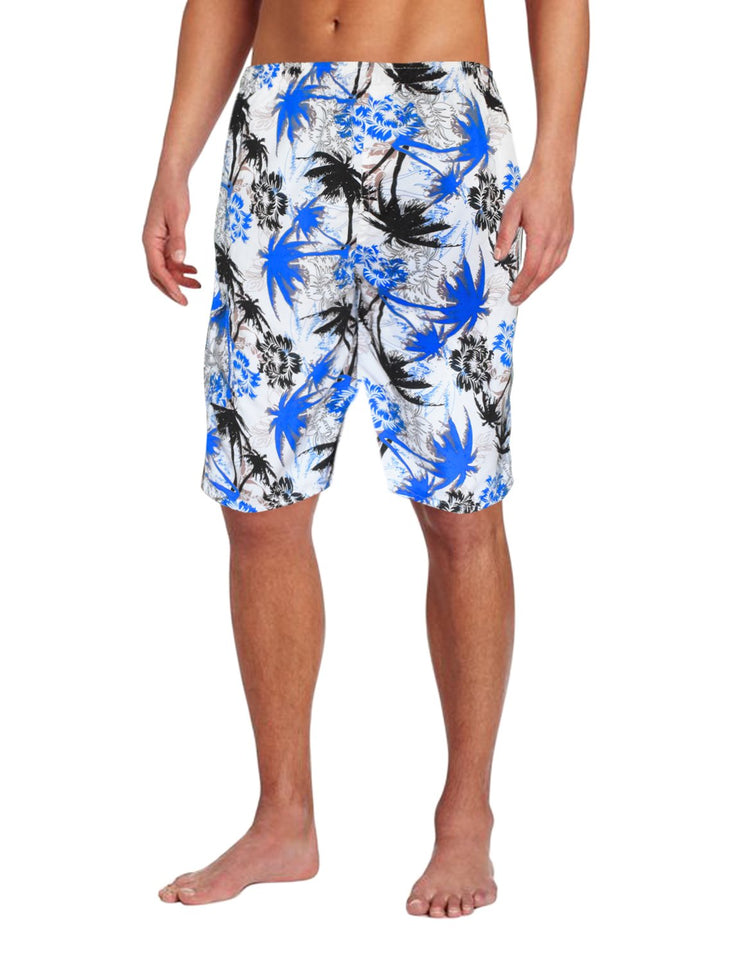 Mens Beach Boardshorts Water Sports Casual Swimming Surfing Shorts XL Blue White