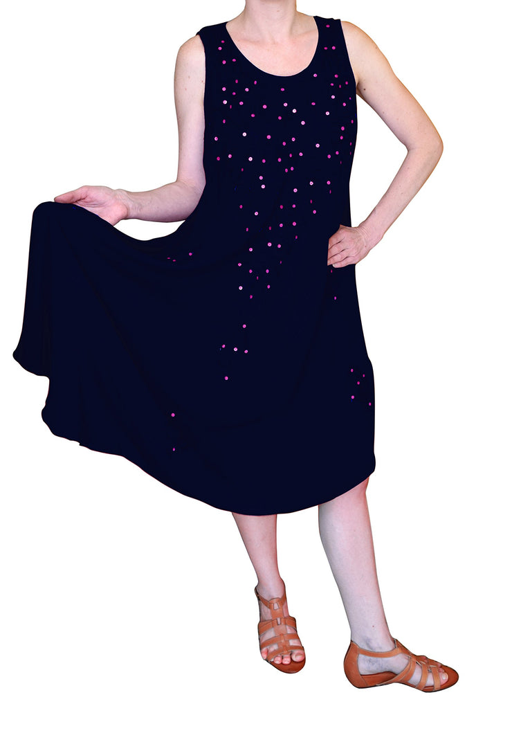 A4484-Sequin-Dress-OneSize-Navy-KL