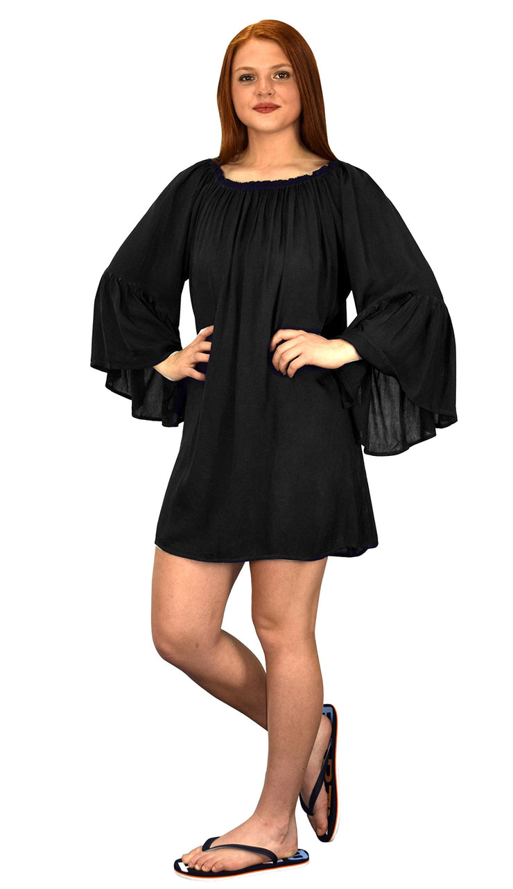 Shoulder Flutter Sleeve Beach Cover Ups