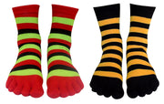 A2553-Stripe-Toe-Sock-Red-Gree-KL