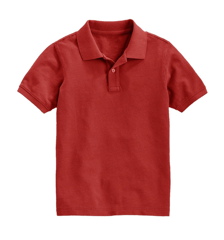 Boys Short Sleeve Classic Pique Polo Shirt, Ages 5-14 Years