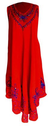 A4497-Colorful-Embroid-Dress-Red-KL
