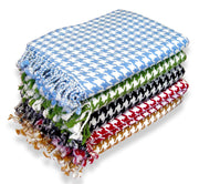 Couture Home Collection Soft and Luxurious Cashmere Wool Houndstooth Throw 50 x 60 in