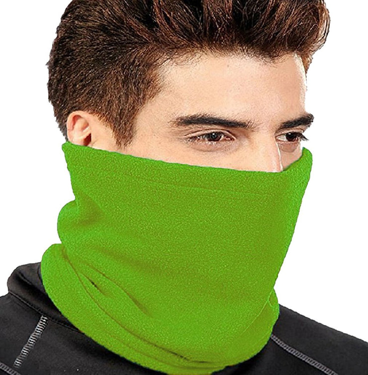 Thick Knit One Hole Facemask Balaclava Snowboarding Biker Mask (Green)