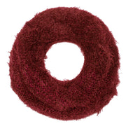 Double Layer Marled Knit Cowl Neck Infinity Loop Scarf Neck Warmer