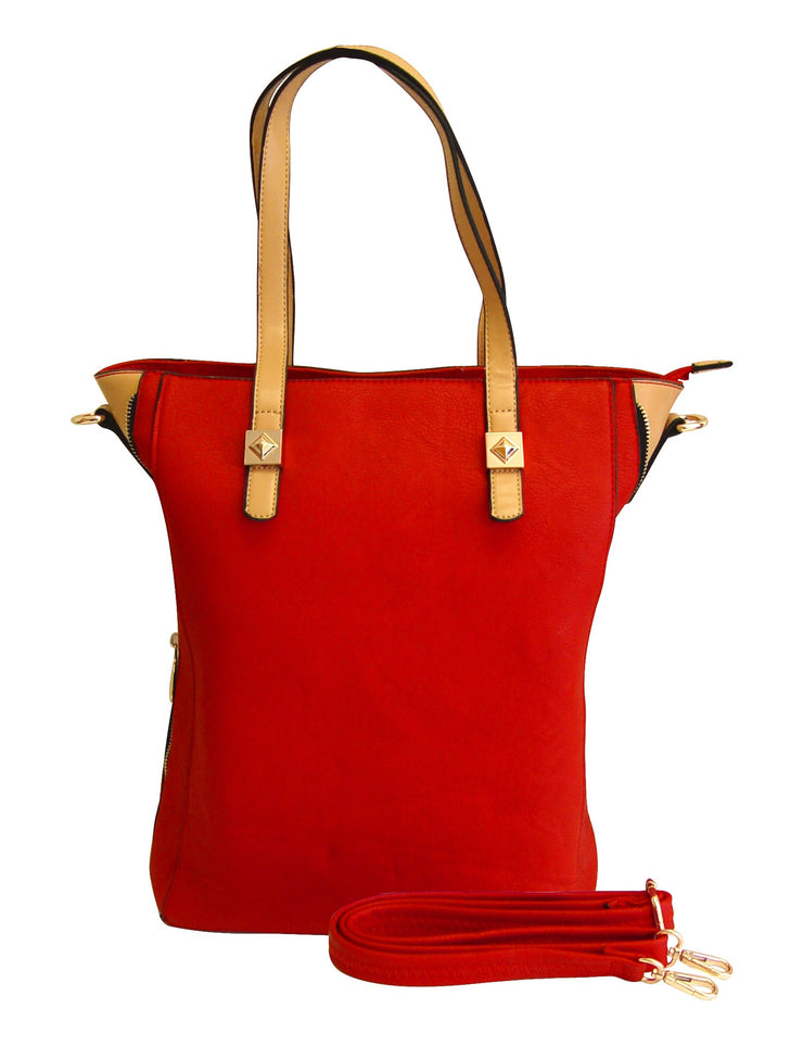 A1657-OLIVIA-Larg-Zipper-Tote-Bag-Red-KL