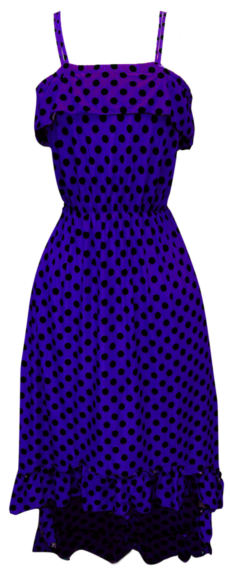A1277-PolkaDot-Maxi-Dress-Viol-BLK-M-SM