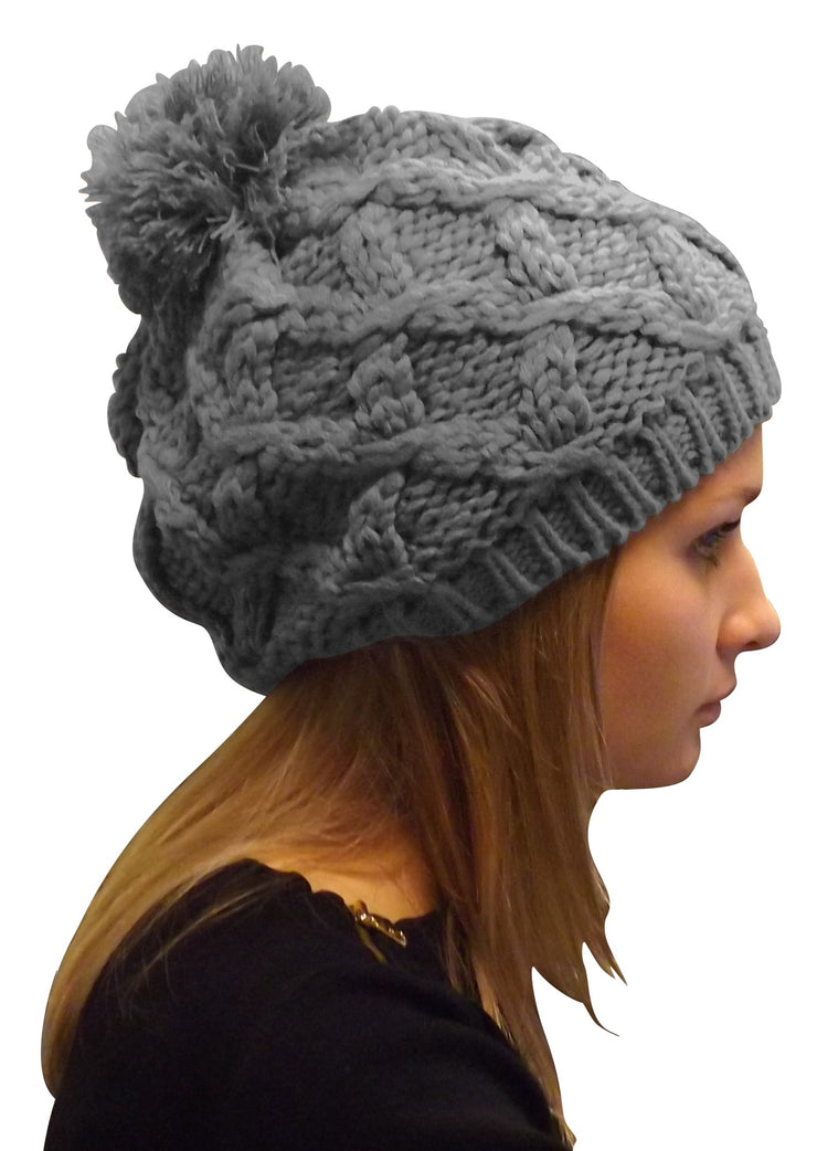 A3238-Cable-Knit-Pom-Hat-Grey-KL