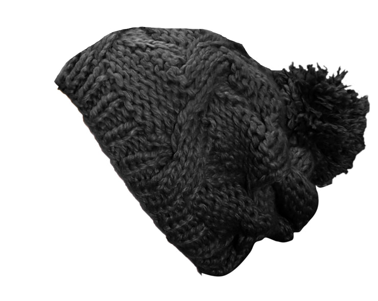 A3280-Hand-Knit-Slouchy-Hat-Black-JG