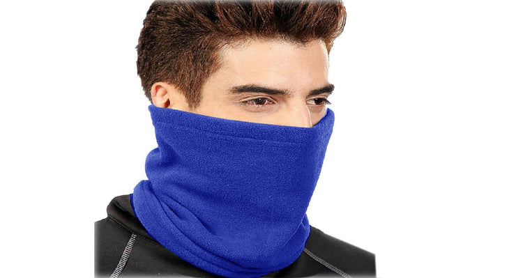 Peach Couture Thick Knit One Hole Facemask Balaclava Snowboarding Biker Mask (Blue)