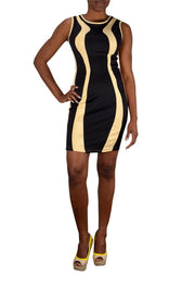 Bodycon Contrast Colored Sleeveless Mini Dress