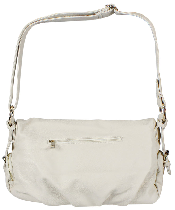 Classic Versatile Large Fold-over Satchel Handbag Shoulder Bag