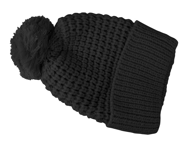 Oversize Beanie Warm Hand Knit Pom Pom Double Layer Winter Ski Snowboard Hat
