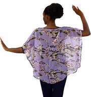 Womens Loose Silhouette Shrug Poncho Cover up Top