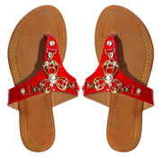 A8752-Clover-Thong Sandal-Red-6-KN