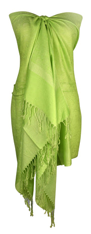 B0193-Solid-Jacquard-Neon-Green-SD