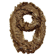 Peach Couture Super Warm Ultra Thick Plush Stretchy Ruffled Infinity Loop Scarf