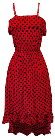 A1273-PolkaDot-Maxi-Dress-Red-Blk-M-SM