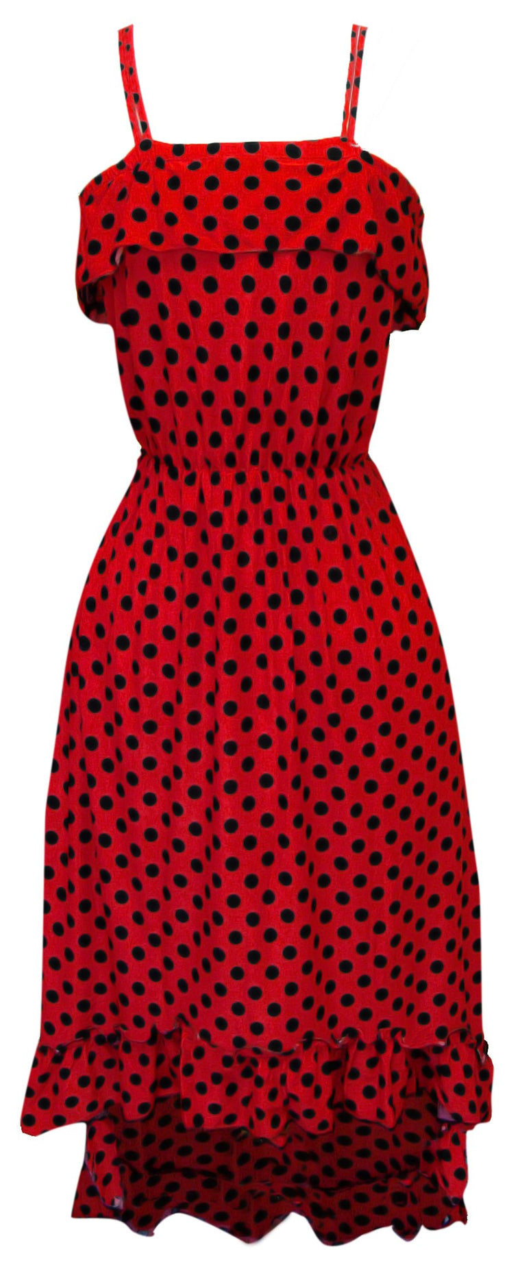 A1275-PolkaDot-Maxi-Dress-Red-Blk-S-SM